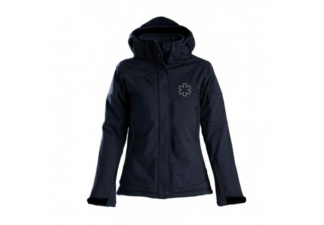 SOFTSHELL DOUBLEE CAPUCHE FEMME