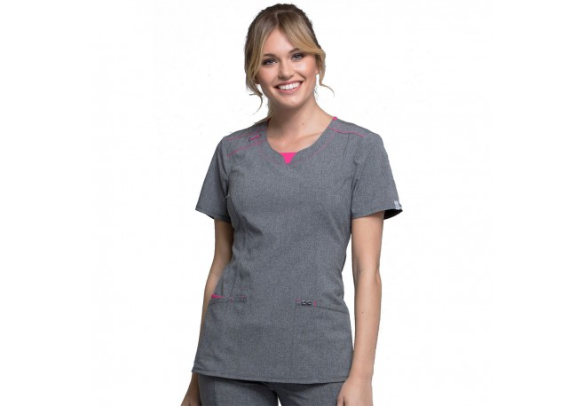 Tunique médicale femme col rond CHEROKEE INFINITY