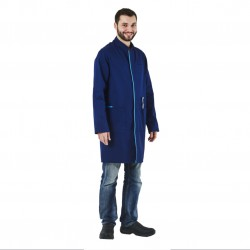 Blouse longue homme - bleu