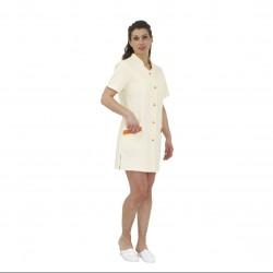 Blouse femme 3/4 à manches courtes - beige