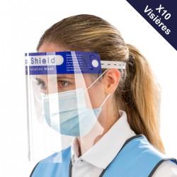 Pack 10 visières PVC ( 2,90€ TTC l'unité)