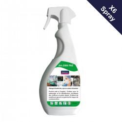 Pack 6 spray désinfectant bactéricide et virucide