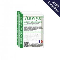 Boîte de 100 lingettes individuelles parfumées désinfectantes (0,39€ TTC l'unité)