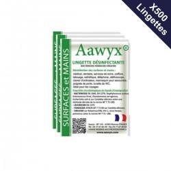 5 boîtes de 100 lingettes individuelles parfumées désinfectantes (0,31€ TTC l'unité)