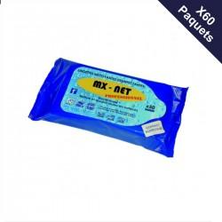 Paquets de 48 lingettes désinfectantes (5,40€TTC le paquet)