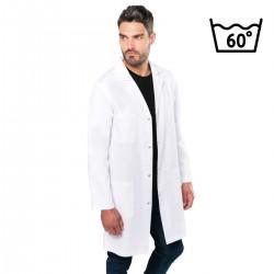 Blouse blanche médicale en coton lavable 60°