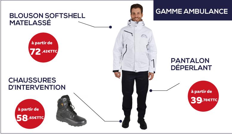 Vêtements et chaussures pour ambulancier